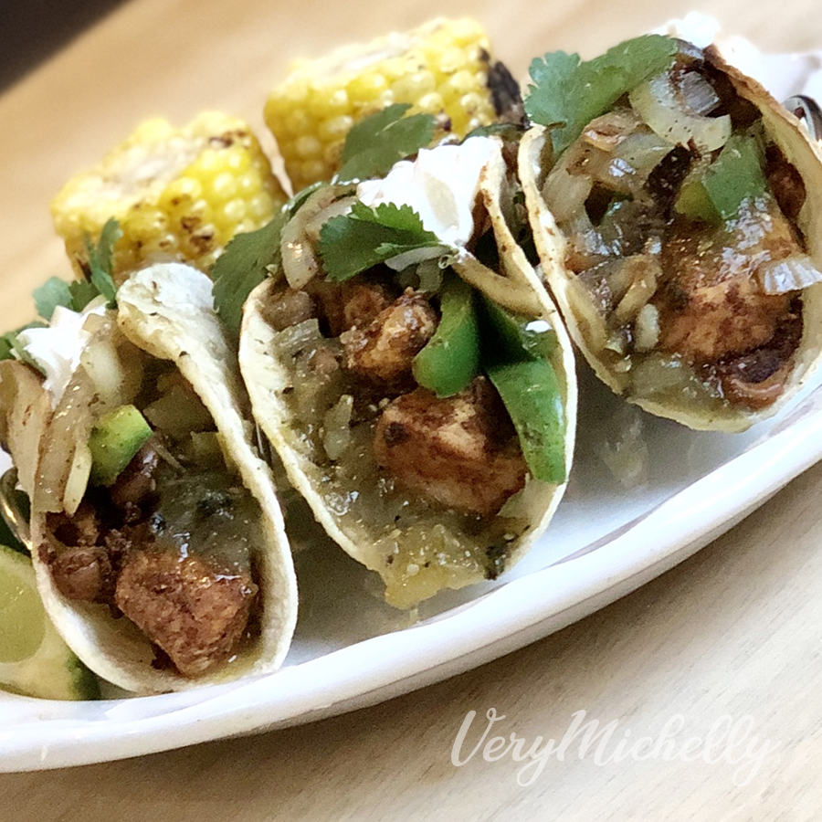 Chicken Tacos with Corn