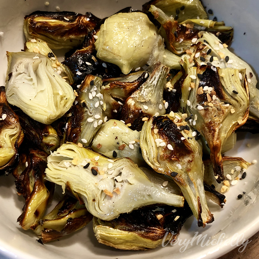 Toasted Artichoke Hearts