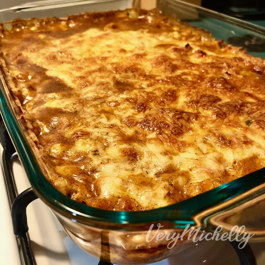 White Chili & Cheese Bake