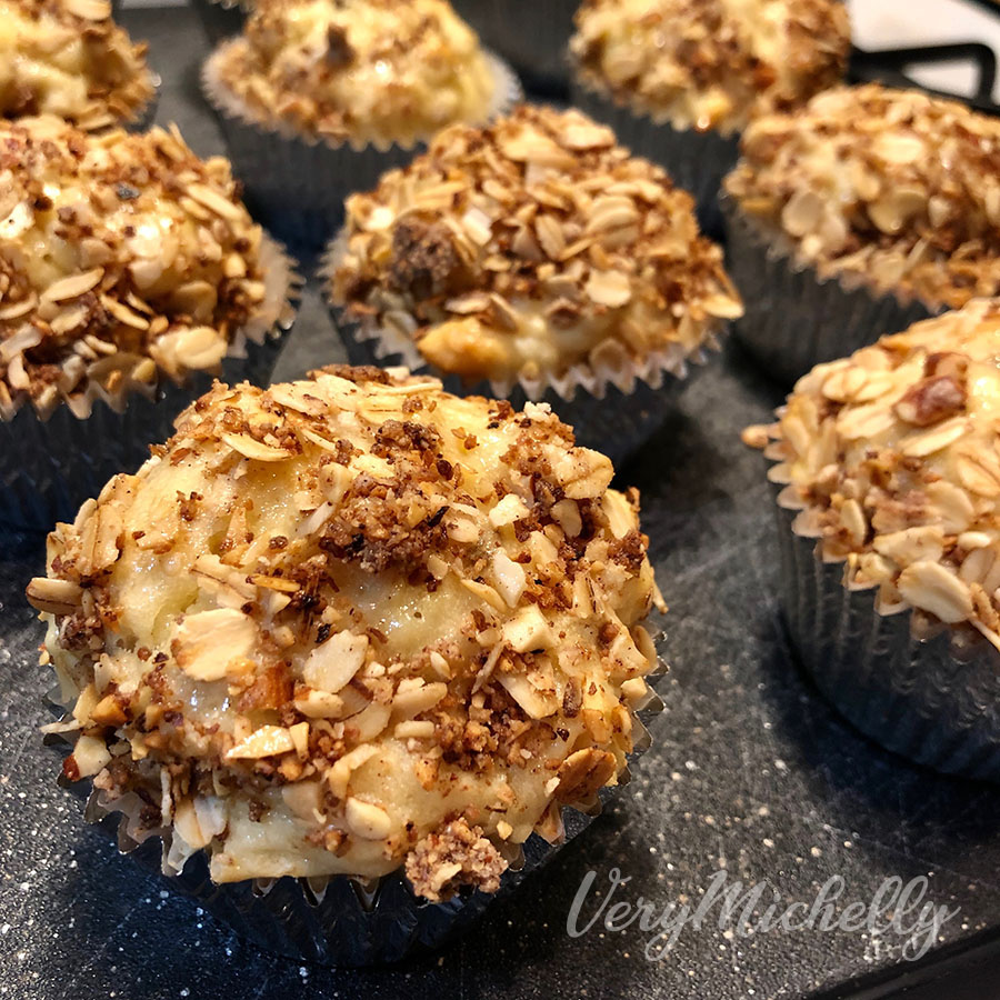 Toasted Almond Banana Muffins