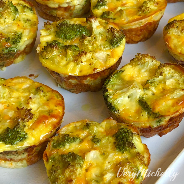 Mini Broccoli Cheddar Casseroles